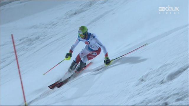 Schladming (AUT), slalom masculin, 2e manche: Ramon Zenhaeusern (SUI) [RTS]