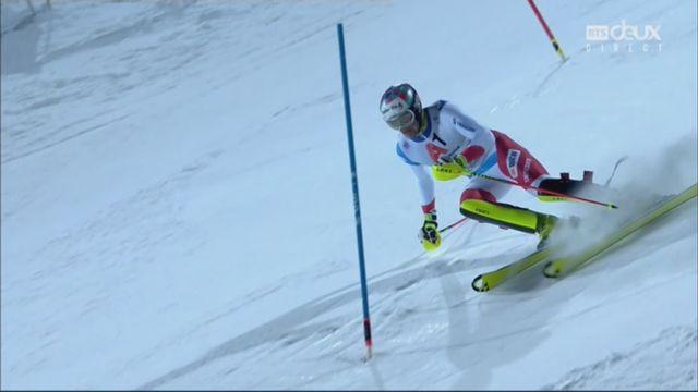 Schladming (AUT), slalom masculin, 2e manche: Daniel Yule (SUI) [RTS]