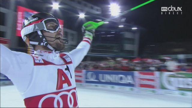 Schladming (AUT), slalom masculin, 2e manche: Marcel Hirscher (AUT) [RTS]
