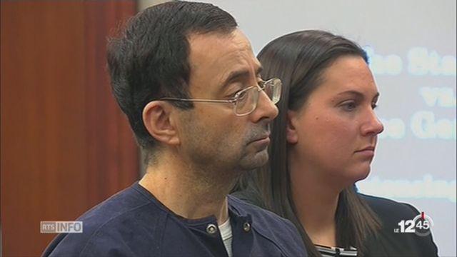 Etats-Unis: l'ancien médecin de l'équipe de gymnastique condamné à 175 années de prison cumulées [RTS]