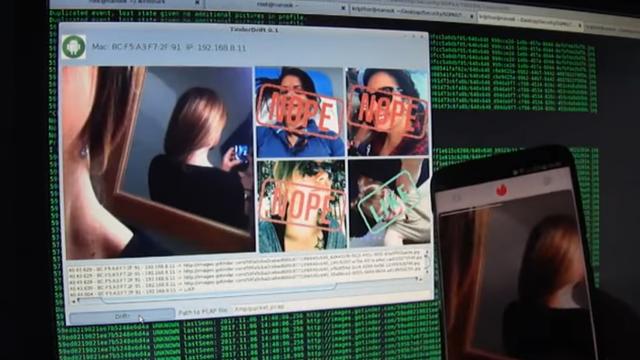 """Démonstration du programme Tinder Drift, qui permet d'espionner les """"likes"""" des utilisateurs. [Checkmarx - YouTube]"""