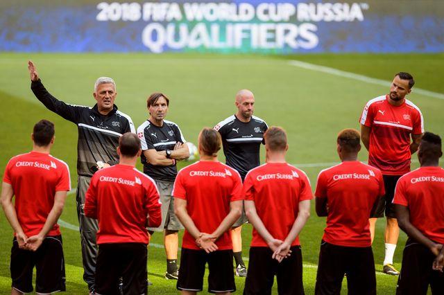 La sélection de Vladimir Petkovic a l'honneur d'affronter l'Espagne en match de préparation. [Jean-Christophe Bott - Keystone]