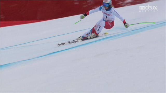 Dames, Combiné alpin, Lenzerheide (SUI), 1e manche : la descente de Denise Feierabend (SUI) [RTS]
