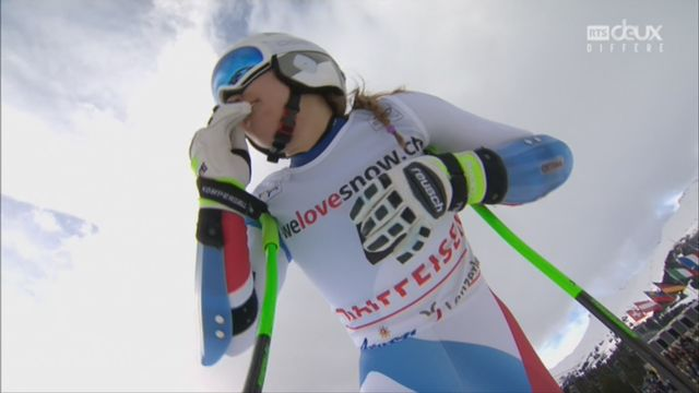 Dames, Combiné alpin, Lenzerheide (SUI), 1e manche : la course de Priska Nufer (SUI) [RTS]