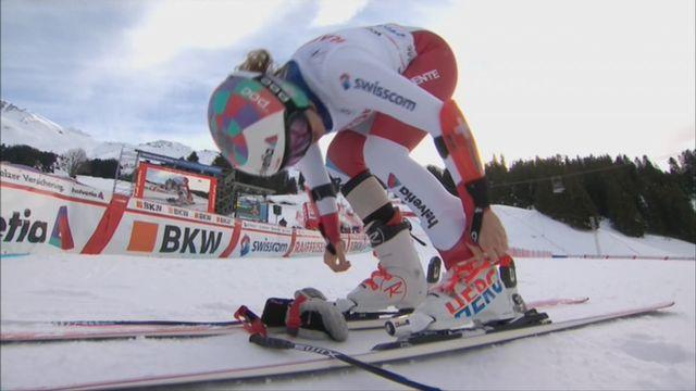 Dames, Combiné alpin, Lenzerheide (SUI), 1e manche : la manche de Michelle Gisin (SUI) [RTS]