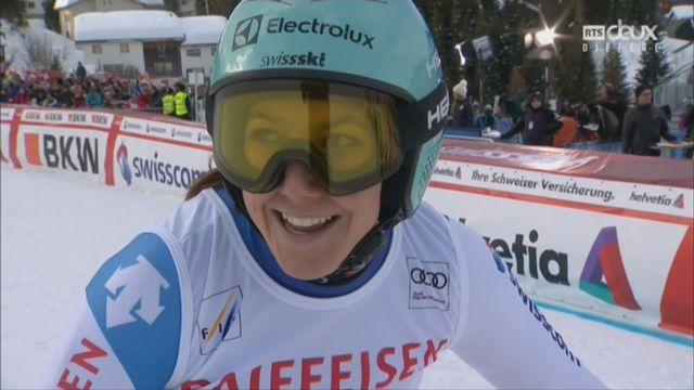 Dames, Combiné alpin, Lenzerheide (SUI), 1e manche : Wendy Holdener (SUI) prend la 2e place provisoire [RTS]