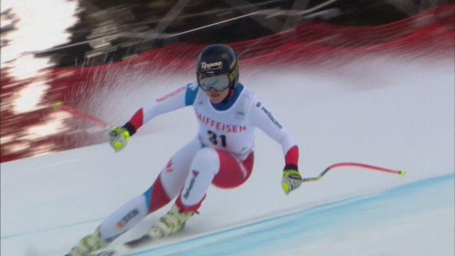Dames, Combiné alpin, Lenzerheide (SUI), 1e manche : Lara Gut (SUI) prend la 4e place avec le même temps que Holdener [RTS]