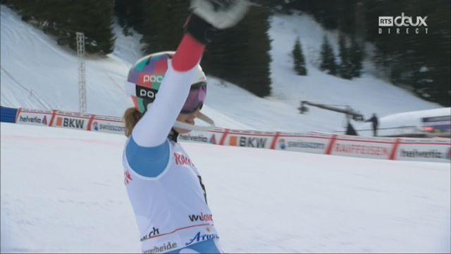 Dames, Combiné alpin, Lenzerheide (SUI), 2e manche :  5e place provisoire pour Michelle Gisin (SUI) [RTS]