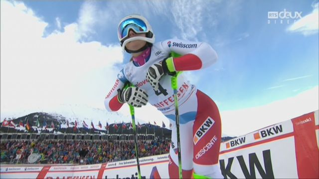 Dames, Combiné alpin, Lenzerheide (SUI), 2e manche : Priska Nufer (SUI) prend la 9e place provisoire [RTS]