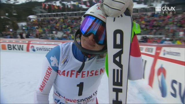 Dames, Combiné alpin, Lenzerheide (SUI), 2e manche : Denise Feierabend (SUI) termine 5e provisoire [RTS]