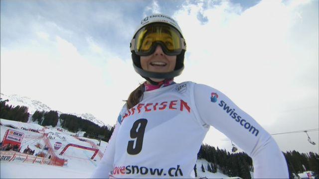 Dames, Combiné alpin, Lenzerheide (SUI), 2e manche : Wendy Holdener (SUI) 1re provisoire [RTS]