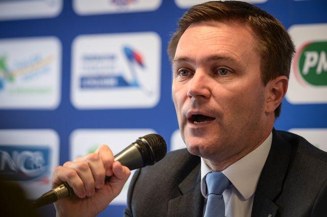 David Lappartient est le nouveau président de l'UCI. [AFP - AFP]