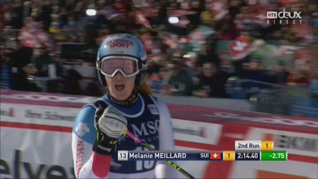 Géant dames, Lenzerheide (SUI), 2e manche: Mélanie Meillard (SUI) [RTS]