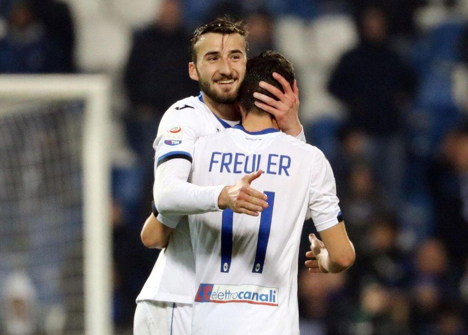 Remo Freuler a inscrit son 3e but de la saison face à Sassuolo. [Elisabetta Baracchi - Keystone]