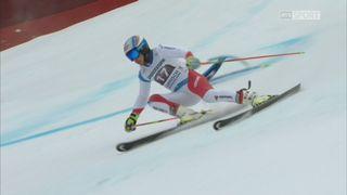 Garmisch (ALL), Géant messieurs, 1re manche: Gino Caviezel (SUI) part à la faute [RTS]