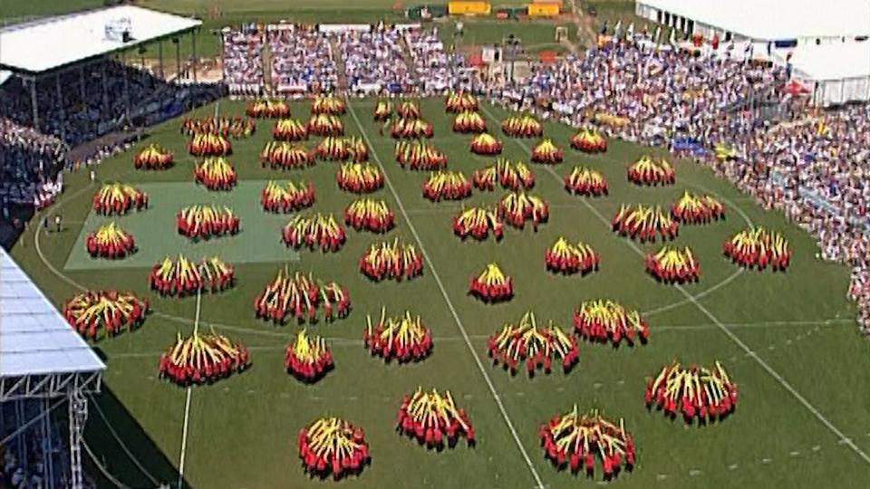 Fête fédérale de gymnastique de 2002. [RTS]