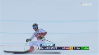 Garmisch (ALL), Géant messieurs, 1re manche: Marcel Hirscher (AUT) en tête [RTS]