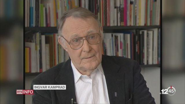 Décès du fondateur d'IKEA: retour sur une déclaration d'Ingvar Kamprad [RTS]