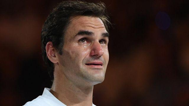 """Les larmes du """"Maître"""" aux désormais vingt titres du Grand Chelem. [Tracey Nearmy - Keystone]"""