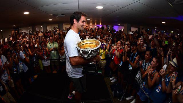 """Le """"Maître"""" a été ovationné dans l'enceinte de Melbourne Park. [Twitter Australian Open - Keystone]"""
