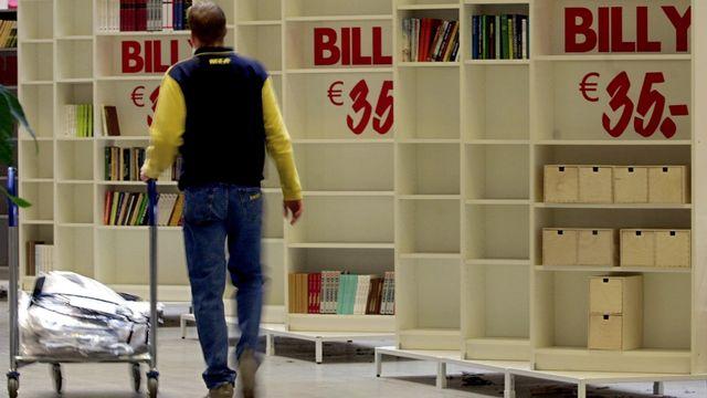 L'étagère Billy a été vendue à des dizaines de millions d'exemplaires dans le monde. [Frank May/Keystone - AFP]