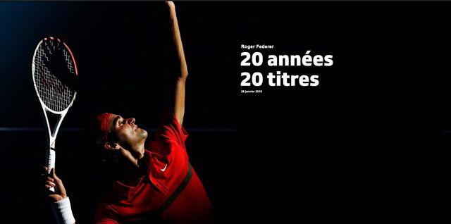 Roger Federer, 20 ans - 20 titres [Keysone / Reuters]