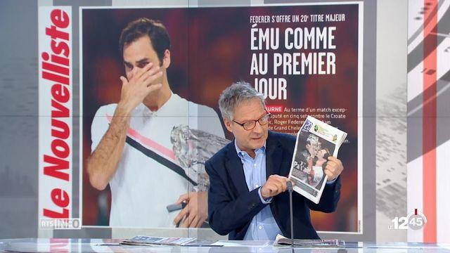 Hommage planétaire pour Roger Federer: la revue de presse de Pierre-Alain Dupuis [RTS]