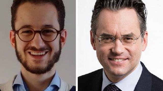 Fabio Battiato (gauche) et Olivier Feller. [Facebook/Keystone]