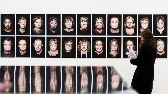 """Vue de l'exposition """"Touchdown"""" au Centre Paul Klee, à Berne. [Christian Merz - Keystone]"""