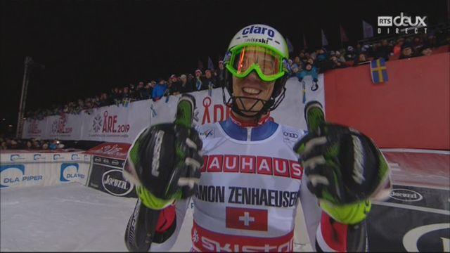Slalom messieurs : Ramon Zenhaeusern (SUI) remporte la finale face à Andre Myhrer (SWE) [RTS]