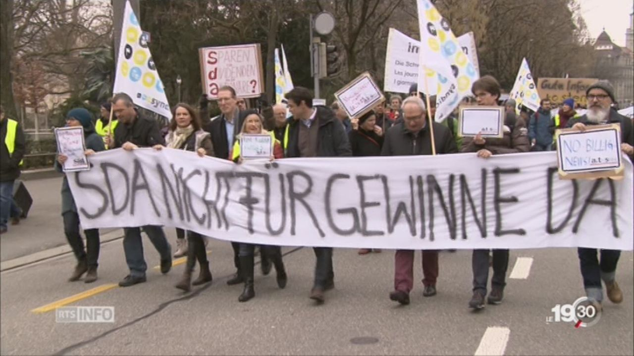 Grève à l'ATS: non aux restructurations [RTS]