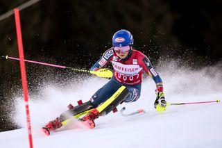 Des films mettront en lumière cinq membres de la délégation américaine à Pyeongchang, au premier rang desquels la skieuse Mikaela Shiffrin. [Jean-Christophe Bott - Keystone]