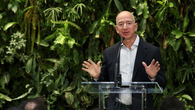 Le fondateur et patron d'Amazon Jeff Bezos, le 29 janvier 2018. [Lindsey Wasson - Reuters]