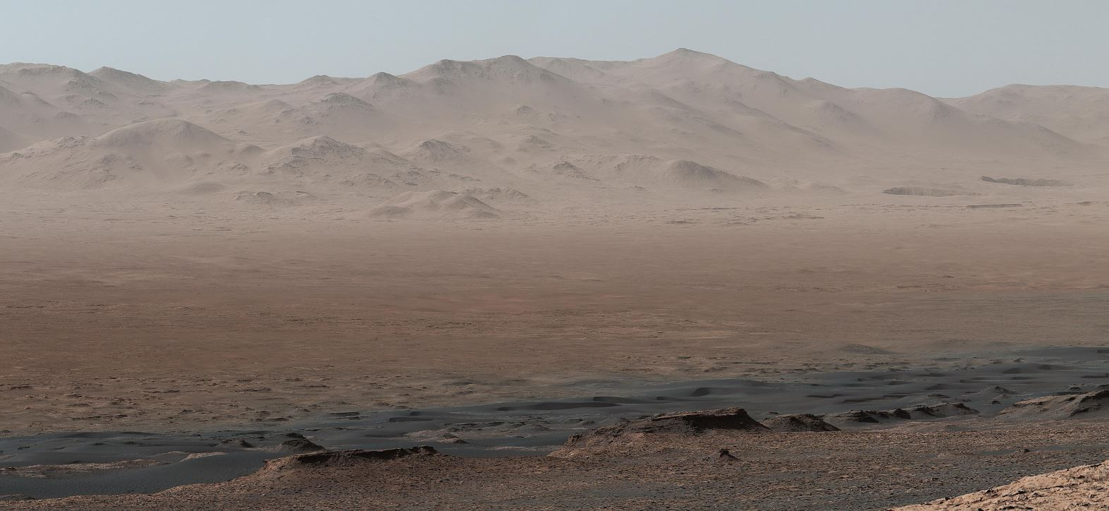 La surface de Mars photographiée par Curiosity.