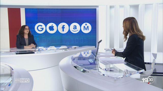 GAFAM - contrôle: les explications de Solange Ghernaouti, experte internationale en cybersécurité et cyberdéfense [RTS]