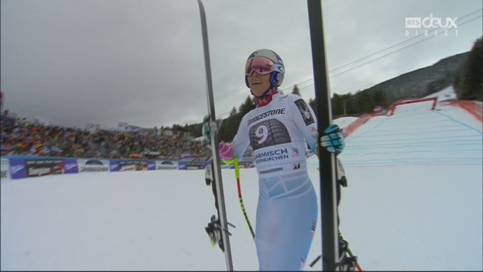 Garmisch (ALL), descente dames: victoire de Lindsey Vonn (USA) [RTS]