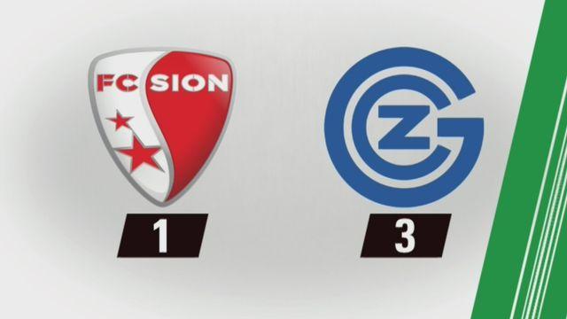 20e journée, Sion - Grasshopper (1-3): tous les buts de la rencontre [RTS]