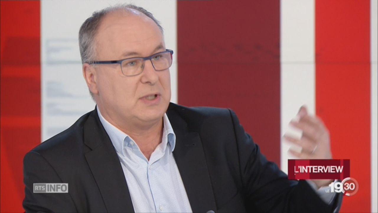Pierre-Yves Maillard, conseiller d'État VD: invité du 19h30 (1-2) [RTS]