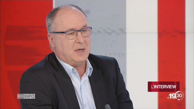 Pierre-Yves Maillard, conseiller d'État VD: invité du 19h30 (2-2) [RTS]