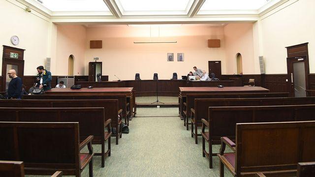 La salle d'audience dans laquelle va se dérouler le procès à Bruxelles. [Emmanuel Dunand - Pool/AFP]