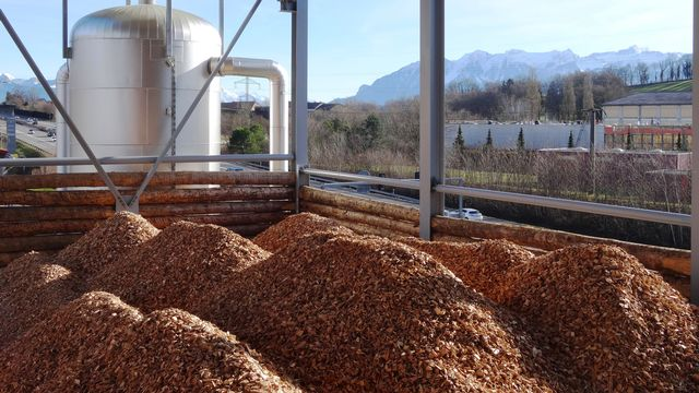 La première centrale de gazéification de bois de Suisse romande est en cours d'aménagement à Puidoux. Romande Energie [Romande Energie]