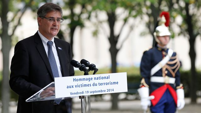 Guillaume Denoix de Saint-Marc, président de  l'association française des victimes de terrorisme. [Thomas Samson - AFP]
