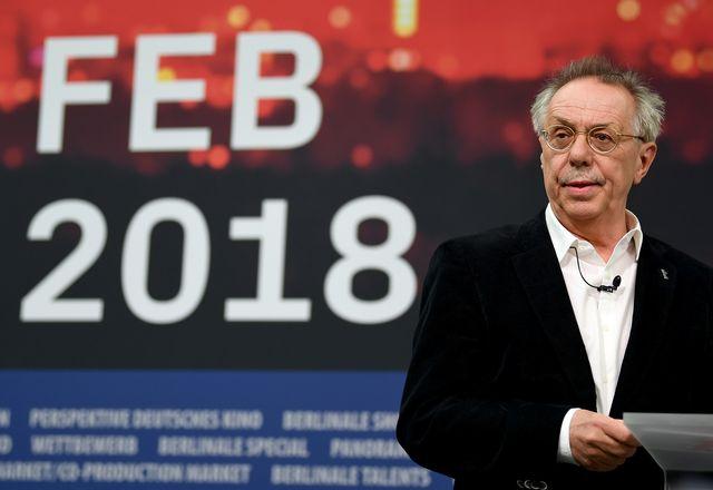 Le directeur de la Berlinale Dieter Kosslick lors de la présentation du programme de la 68e édition du festival. [Britta Pedersen - Keystone/dpa]