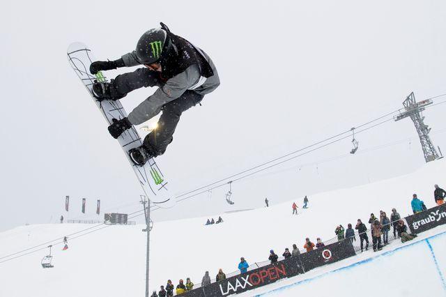 Iouri Podladtchikov lors de l'Open de Laax, le 20 janvier dernier. [Gian Ehrenzeller - Keystone]