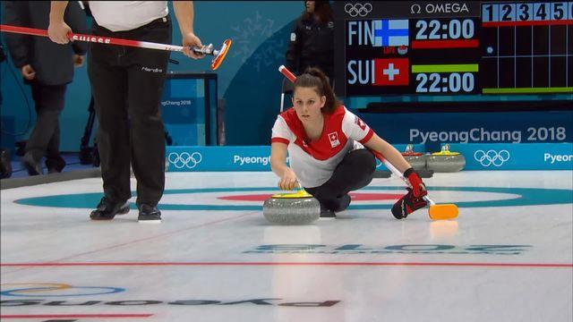 Curling FIN-SUI (mixte) : début du match [RTS]