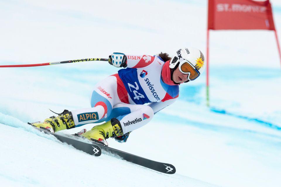 Juliana Suter lors d'une course junior à St-Moritz. [Gian Ehrenzeller - Keystone]