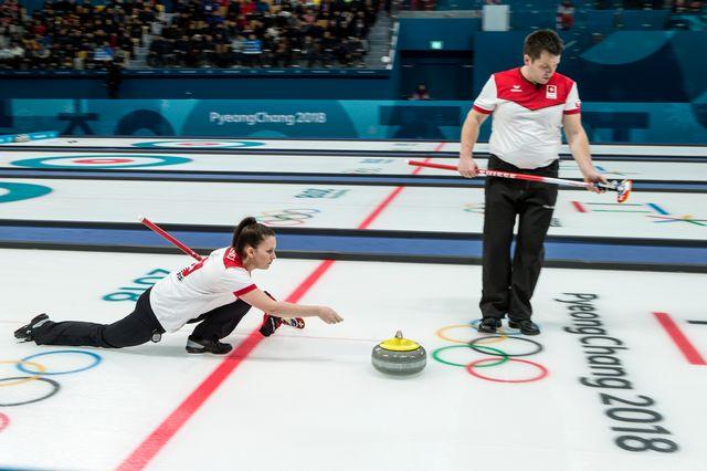 La paire suisse a fait le plein de points lors de ses deux premiers matches. [Alexandra Wey - Keystone]