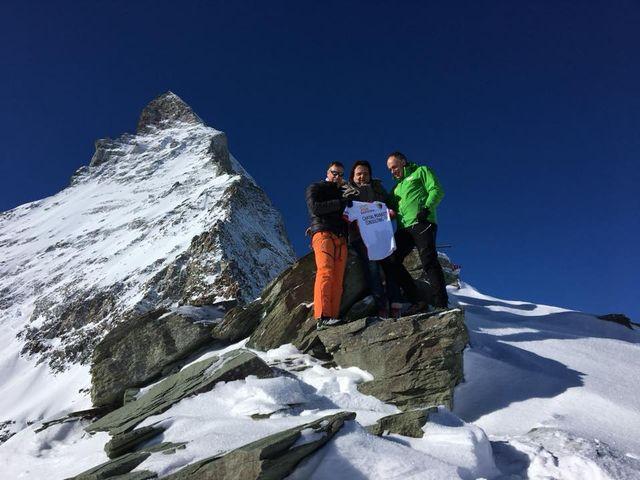 Pirmin Zurbriggen, Christian Constantin et Christophe Darbellay au Cervin. [Twitter FC Sion]