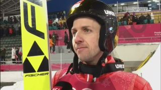 Saut-Qualifs: Simon Ammann et son saut d'entraînement [RTS]