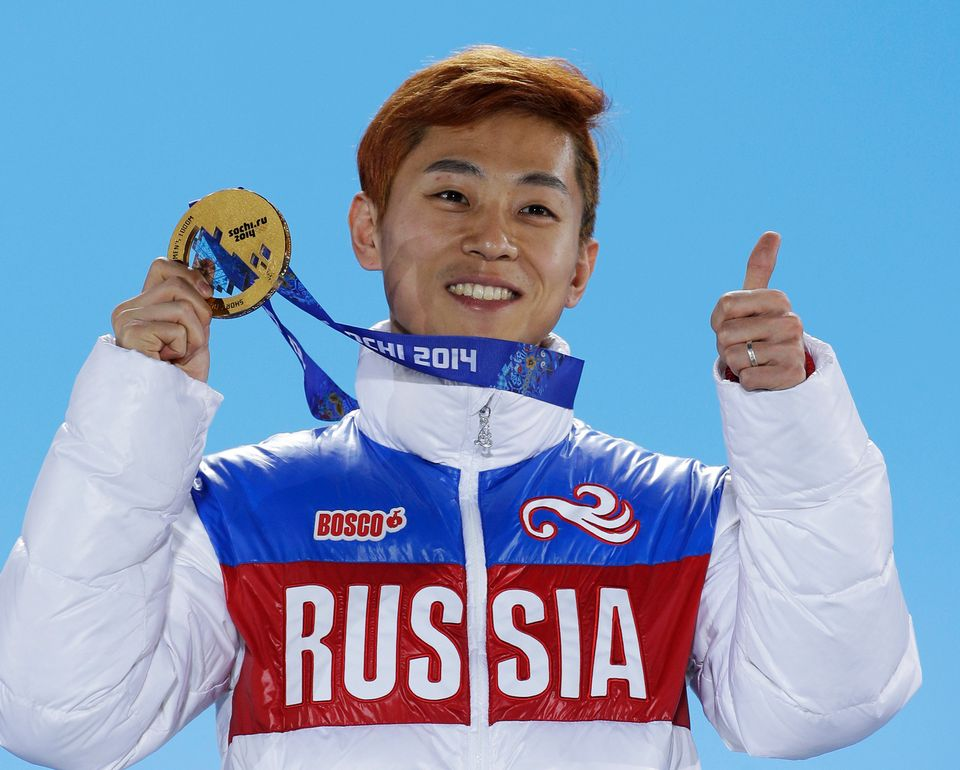 Viktor Ahn, né Sud-Coréen et devenu Russe juste avant Sotchi2014 aurait été une des grandes stars des Jeux. [David J. Phillip - Keystone]